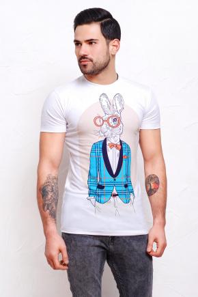 Кролики Футболка Men-2В. Цвет: принт