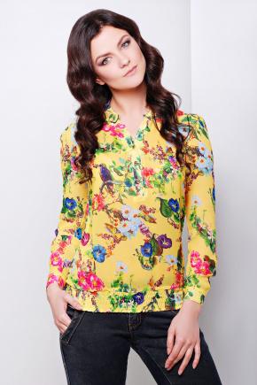 блуза Весна д/р. Цвет: желтый-цветы