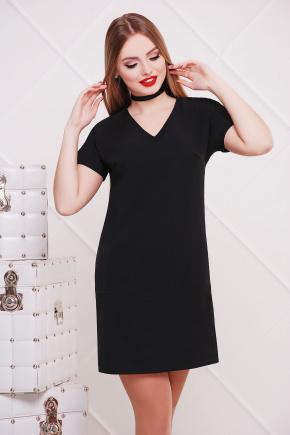 платье Космо к/р. Цвет: черный