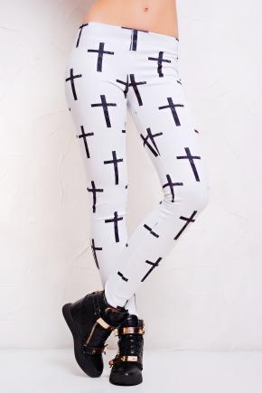 Крест черный лосины РП. Цвет: принт