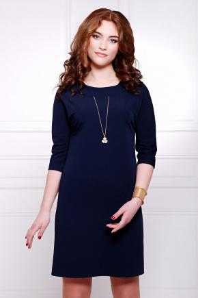 платье Элика д/р. Цвет: темно синий