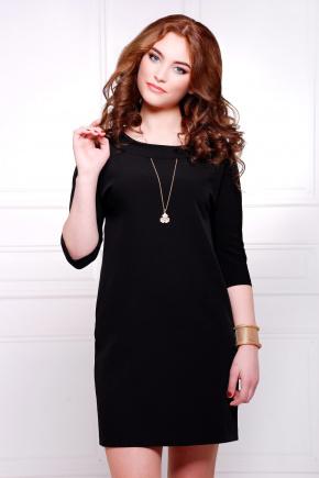 платье Элика д/р. Цвет: черный