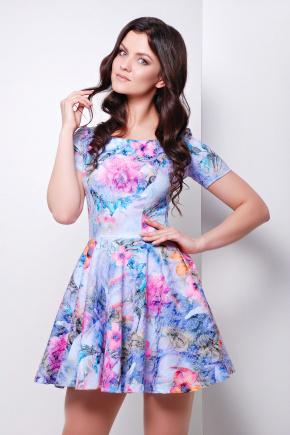 платье Милава к/р. Цвет: св.фиолетовый-б.цветы