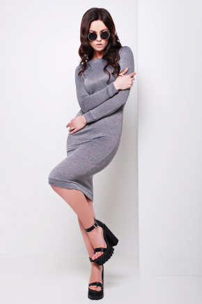 платье Гвен д/р. Цвет: темно серый