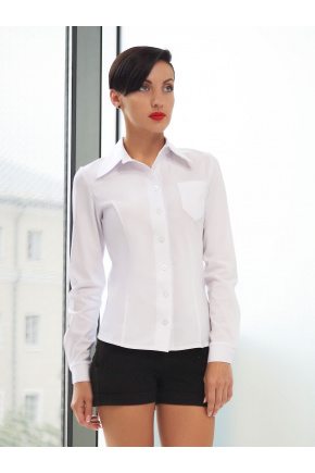 блуза Марта д/р. Цвет: белый бенгалин