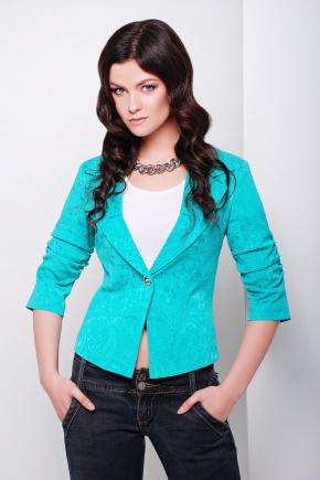 пиджак Жако2. Цвет: бирюзовый