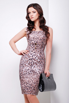 платье Ленара б/р. Цвет: леопардовый