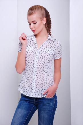 блуза Якира к/р. Цвет: белый-якорь