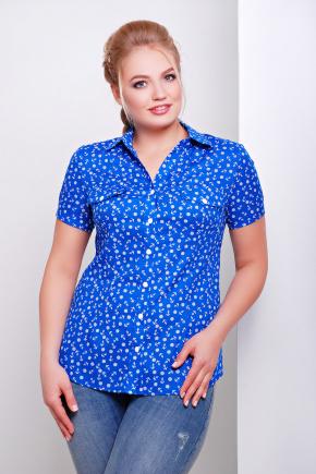 блуза Якира-Б к/р. Цвет: электрик-якорь