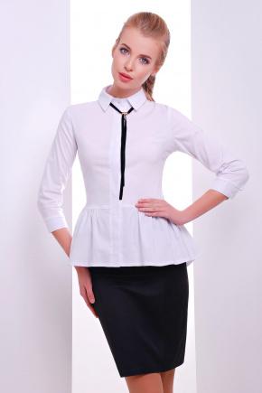 блуза Доминика2 д/р. Цвет: белый