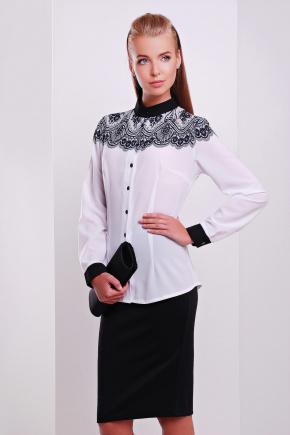 Кружево черное блуза Есения д/р. Цвет: принт