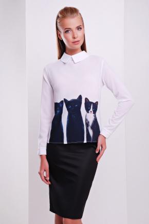 Котики блуза Милина д/р. Цвет: принт