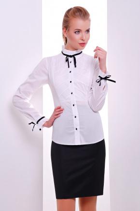 блуза Лаурика д/р. Цвет: белый