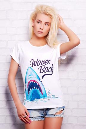 Акула футболка Кимоно-Б. Цвет: принт