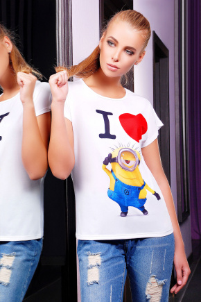 Миньон 2 футболка Кимоно-Б. Цвет: принт