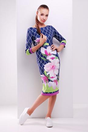 Магнолия платье Лоя-1Ф д/р. Цвет: принт
