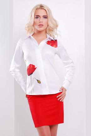 Мак блуза Ларси д/р. Цвет: белый