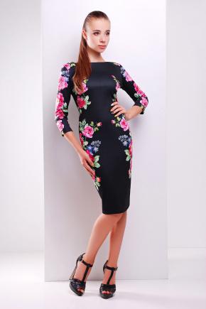 Цветы платье Лоя-3Ф д/р. Цвет: принт