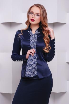 блуза Лакки д/р. Цвет: темно синий