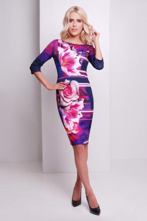 Неон платье Лоя-1Ф д/р. Цвет: принт