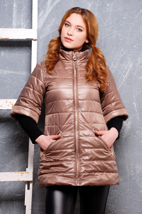 куртка Лисси-Б. Цвет: бежевый
