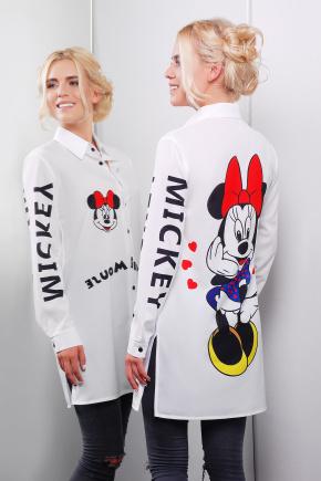 Minnie Mouse рубашка Марена-1 д/р. Цвет: принт