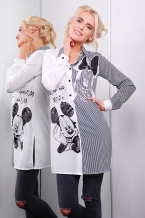 Mickey and Minnie рубашка Марена-3 д/р. Цвет: принт