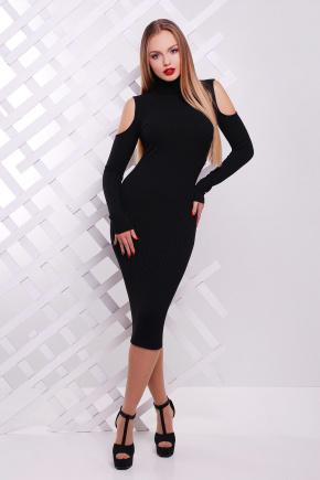 платье Резинка д/р. Цвет: черный