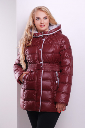 Куртка 6087. Цвет: бордовый