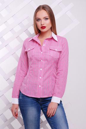 блуза Техас д/р. Цвет: розовый-м.клетка