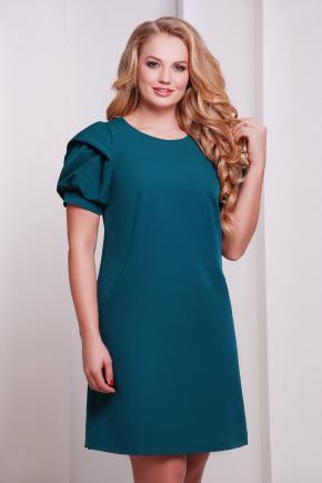 платье Бриджит-Б к/р. Цвет: т.бирюзовый