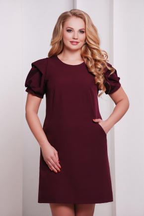 платье Бриджит-Б к/р. Цвет: бордовый