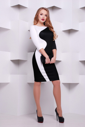 Black and White платье Лоя-2Ф д/р. Цвет: принт