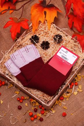 Носки 2002. Цвет: бордовый