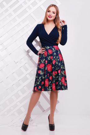 платье Валеджи д/р. Цвет: т.синий-розы-коралл