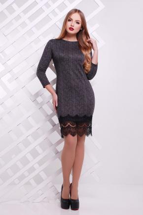 платье Остина д/р. Цвет: темно серый-елка