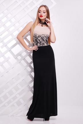 Кружево черное платье Бомонта б/р. Цвет: бежевый