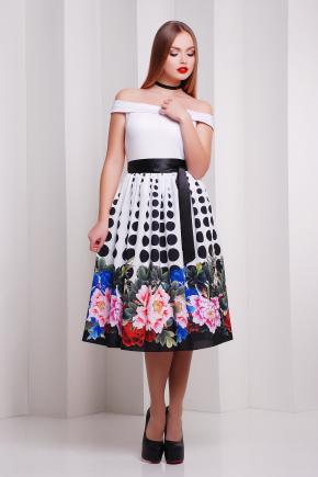 Пион-горох платье Эмми б/р. Цвет: принт