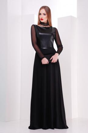 платье Салина д/р. Цвет: черный
