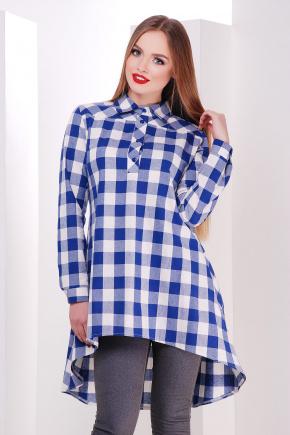 платье-рубашка Танзана д/р. Цвет: электрик-б.квадрат