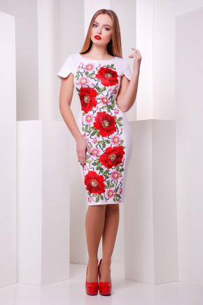 Маки платье Питрэса к/р. Цвет: белый