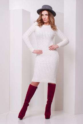Платье 135. Цвет: молоко