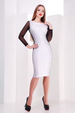 Полоска мелкая платье Лоя-3КДС д/р. Цвет: принт