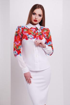 Герберы блуза Верина-3 д/р. Цвет: принт