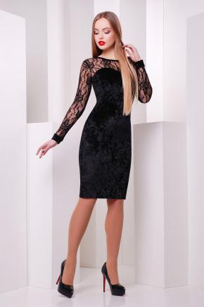 платье Дорра д/р. Цвет: черный