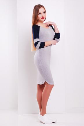 платье Анкона д/р. Цвет: св.серый-т.синий