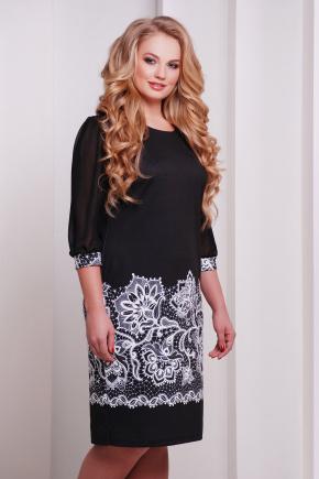Кружево платье Талса-1Б д/р. Цвет: принт