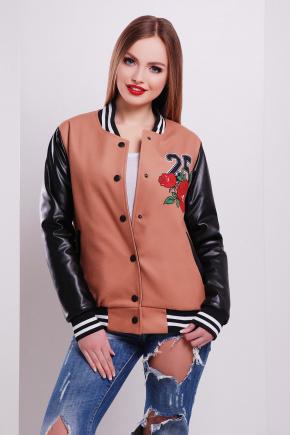 Олень-роза куртка Бомбер. Цвет: принт