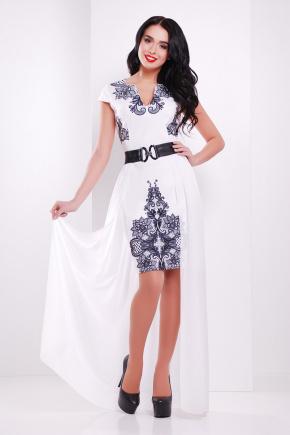 Кружево черное платье Аркадия б/р. Цвет: белый