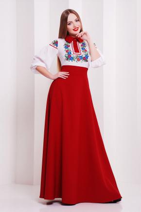 Цветы платье Валенсия д/р. Цвет: бордовый